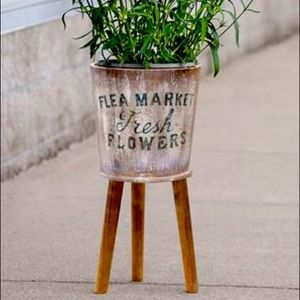 Wooden French inspired planter